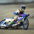 Speeaway rider on speedway track — Stock Photo #8443245