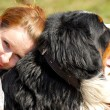 Stock Photo: Womwith Bernese Mountain Dog