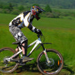 Downhill competition — Stock Photo #8489814