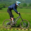 Downhill competition — Stock Photo #8489890