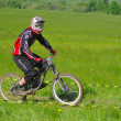 Downhill competition — Foto Stock