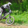 Downhill competition — Stock Photo #8490113