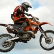 Mx rider jumping — Foto de Stock