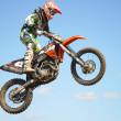 Mx rider jumping — Stock Photo