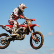 Mx rider jumping — Stockfoto