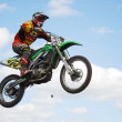 Mx rider jumping - Foto Stock