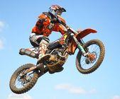 Mx rider jumping — Stock Photo