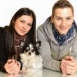 Couple with dog — Stock Photo #8653351