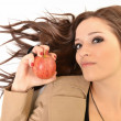 Young beautiful girl with apple - Photo