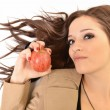 Young beautiful girl with apple - Foto Stock