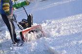 Snowblower — Stock Photo