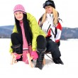 Young women with sled — Stock Photo #8874530