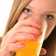 Woman with orange juice — Stock Photo #9037321