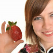 Young woman with strawberry. — Stock Photo #9157192