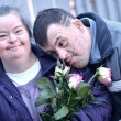 Down syndrome love — Stock Photo #9253667