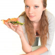 Sexy woman with pizza — Stock Photo #9357499