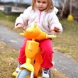 Baby riding on motorbike — Stock Photo #9570242