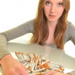 Girl with cigarette — Stock Photo