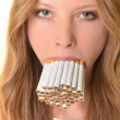 Smoking woman — Stock Photo #9775262