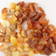 Raw amber - Stock Photo