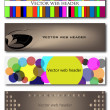 Headers — Stock Vector