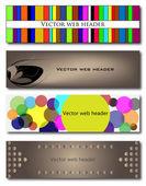 Set of 4 web headers — Stock Vector