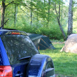 Car camping in the summer — Stock Photo #10423558