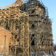 Restoration of an old beautiful church — Stock Photo #8754764