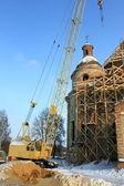 Restauración de una antigua iglesia hermosa — Foto de Stock