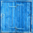 Royalty-Free Stock Photo: Bright blue wooden doors (WC)