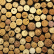 Stock Photo: A lot of wine corks