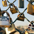 Padlock symbol of eternal love — Stock Photo