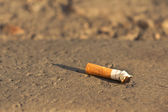 Cigarette fag thrown in the city — Stock Photo