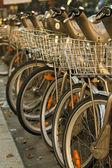 Photo of Velib bikes in Paris — Stock Photo