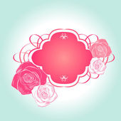 Sweet rose pink frame — Stock Vector