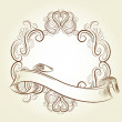 Classic vintage victorian frame — Stock Vector #9343480