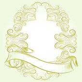 Classic vintage victorian frame — Stock Vector