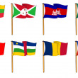 Hand-drawn Flags of the World - letter B and C — Stock Photo