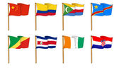 Hand-drawn Flags of the World - letter C — Stock Photo