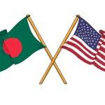 Постер, плакат: America and Bangladesh alliance and friendship