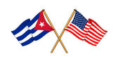 America and Cuba alliance and friendship — Stock Photo