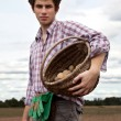 Stock Photo: Young handsome farmer