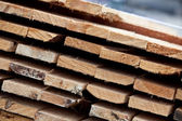 Pile of planks closeup — Stock Photo