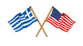 America and Greece alliance and friendship — Stock Photo