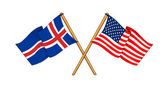 America and Iceland alliance and friendship — Stock Photo