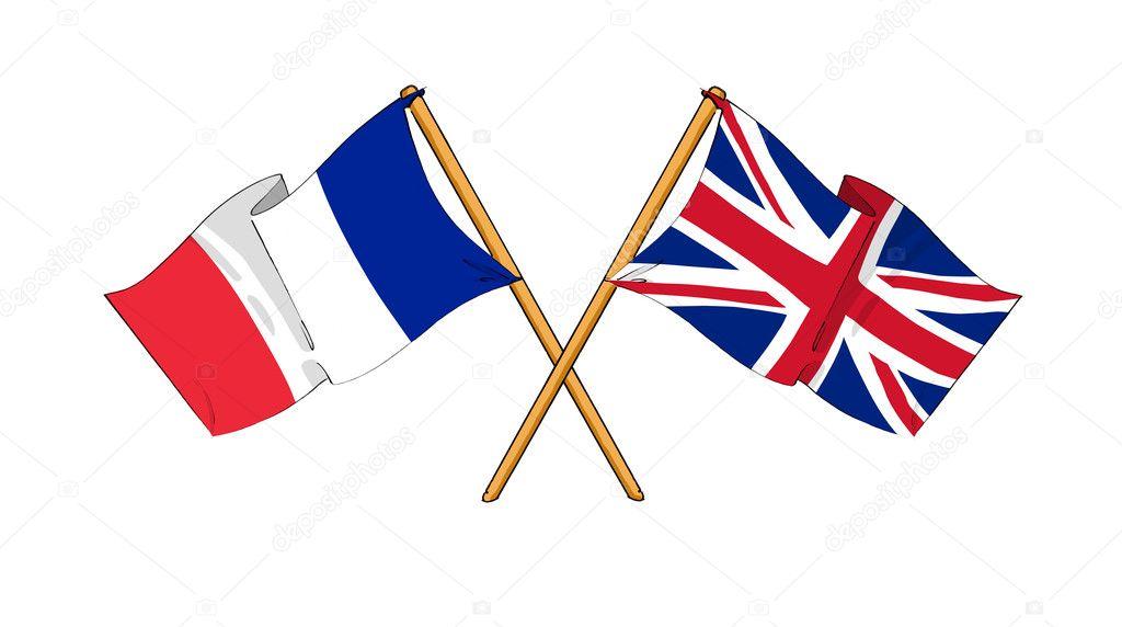 Reino unido y francia alianza y amistad foto de stock - Dibujo bandera inglesa ...