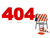 Computer error 404 — Stock Photo