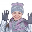 Stock Photo: Beautiful winter woman