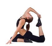 Praktykowanie jogi — Zdjęcie stockowe