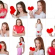 Stock Photo: Collage Valentine's Day